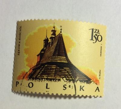 Почтовая марка Польша (Polska) Church, Sekowa | Год выпуска 1974 | Код каталога Михеля (Michel) PL 2303