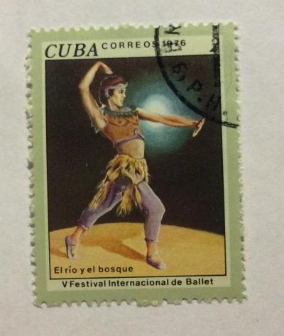 Почтовая марка Куба (Cuba correos) The River and the Forest, 5th International Ballet Festival | Год выпуска 1976 | Код каталога Михеля (Michel) CU 2169