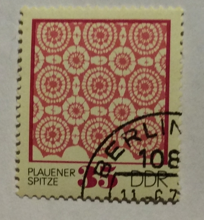 Почтовая марка ГДР (DDR) Plauener point   Год выпуска 1974   Код каталога Михеля (Michel) DD 1966