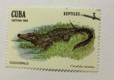 Почтовая марка Куба (Cuba correos) Cuban Crocodile (Crocodylus rhombifer) | Год выпуска 1982 | Код каталога Михеля (Michel) CU 2669