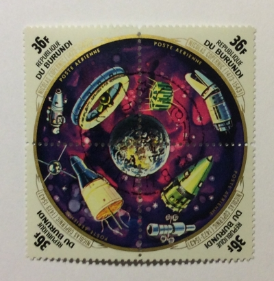 Почтовая марка Бурунди (Republique du Burundi) Airmail - The 500th Anniversary of the Birth of Copernicus | Год выпуска 1973 | Код каталога Михеля (Michel) BI 959-962