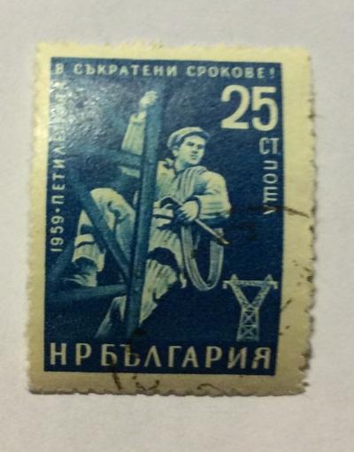 Почтовая марка Болгария (НР България) Electrician   Год выпуска 1960   Код каталога Михеля (Michel) BG 1190