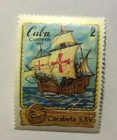 Почтовая марка Куба (Cuba correos) Caravel | Год выпуска 1972 | Код каталога Михеля (Michel) CU 1822