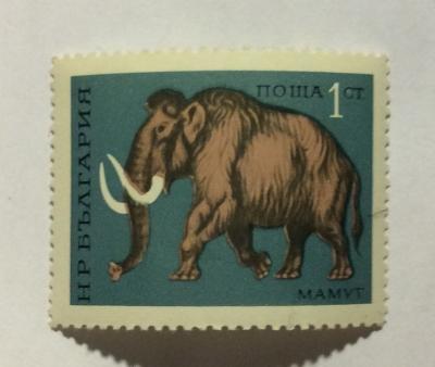 Почтовая марка Болгария (НР България) Mammoth | Год выпуска 1971 | Код каталога Михеля (Michel) BG 2088