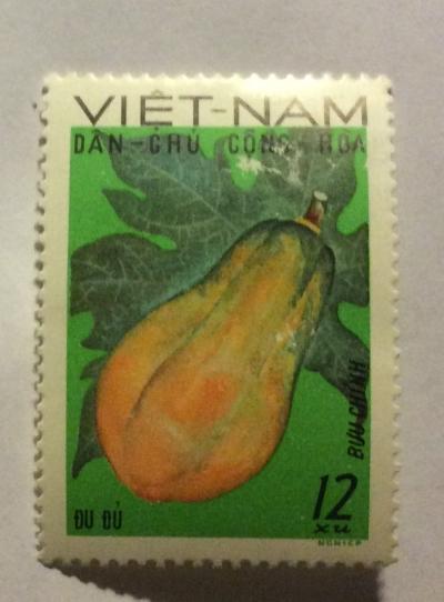 Почтовая марка Вьетнам (Vietnam) Pawpaw (Asimina triloba)   Год выпуска 1969   Код каталога Михеля (Michel) VN 589