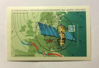 Почтовая марка ГДР (DDR) Meteorology | Год выпуска 1972 | Код каталога Михеля (Michel) DD BL36