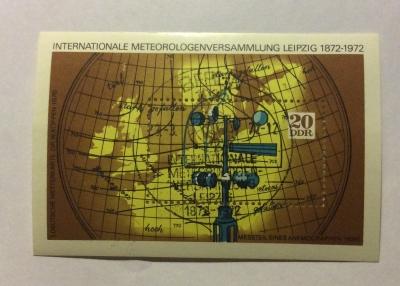 Почтовая марка ГДР (DDR) Meteorology | Год выпуска 1972 | Код каталога Михеля (Michel) DD BL34