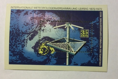 Почтовая марка ГДР (DDR) Meteorology | Год выпуска 1972 | Код каталога Михеля (Michel) DD BL35