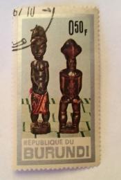Ancestorfigures of Baule-tribe