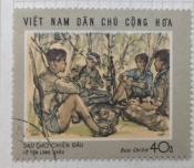 """After a skirmish"" - painting by Co Tan Long Chau"