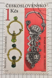 Jeweled earrings (8.-9th cent.)