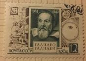 Портрет Галилео Галилея итальянского астронома и физика Худ.В.Пименов.грав В.Смирнов