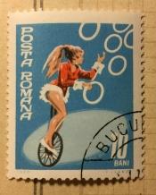 Juggler on unicycle