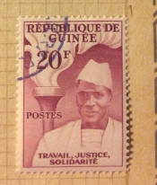 Ahmed Sékou Touré and torch