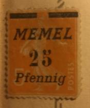 The Seederess, italic overprint Memel