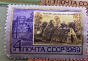 Разлив. Шалаш, где В.И. Ленин жил в июле-августе 1917 г