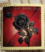 "Брошь ""Роза"" (бриллианты, платина)"