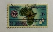 Map of Africa & Telecommunication Symbols