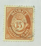 Posthorn- NORGE in Roman Capitals