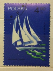 """Polonez"", sailed around the world, 1973"