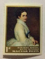 Mrs István Bittó by Miklós Barabás