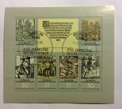 450th ann. Of the German Peasants' War, mini-sheet