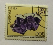 Amethyst with quartz from geyer